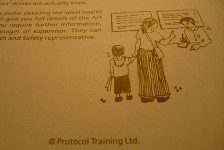 Image from a page of a workbook produced for Protocol Training