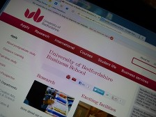 Image of the University of Bedfordshire website